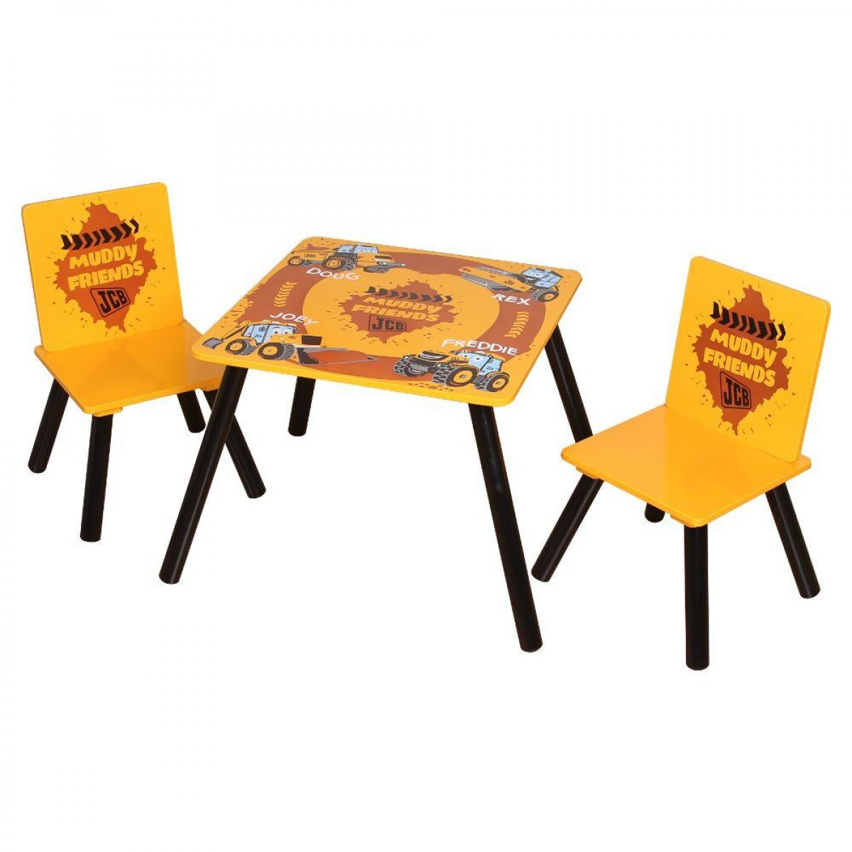 Muddy Friends Children's JCB Digger Table and 2 Chairs