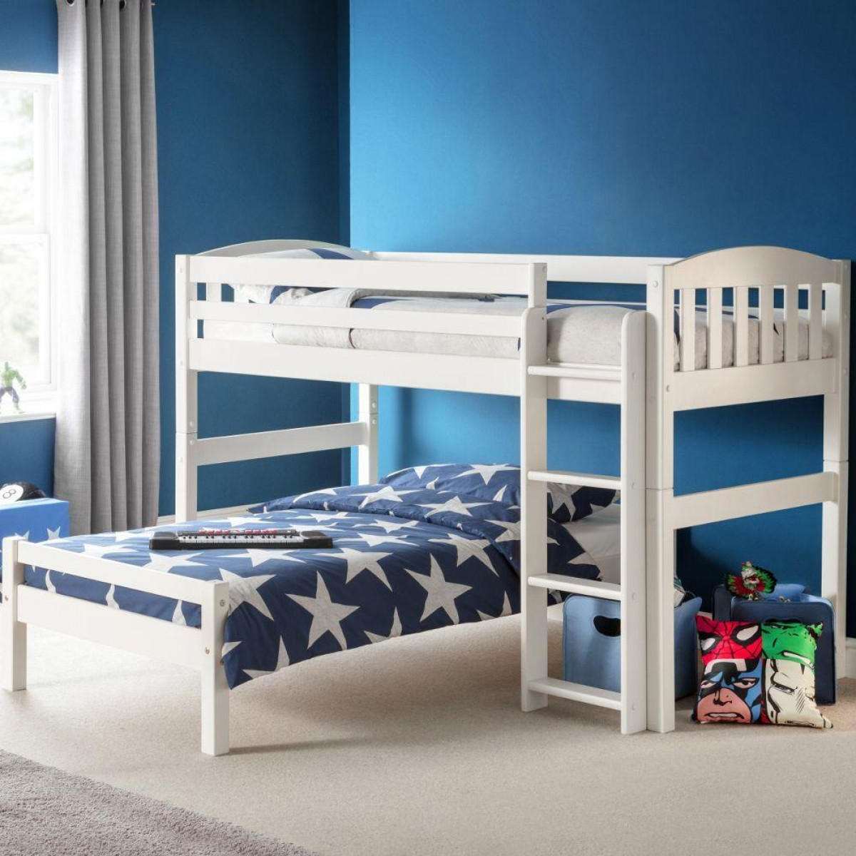 Max White Wooden Combination Bed