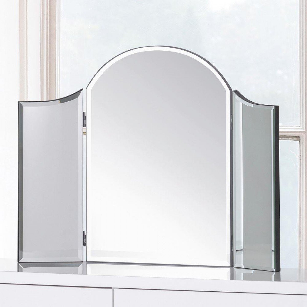 Canto Glass Curved Dressing Table Mirror - 65 cm x 50 cm