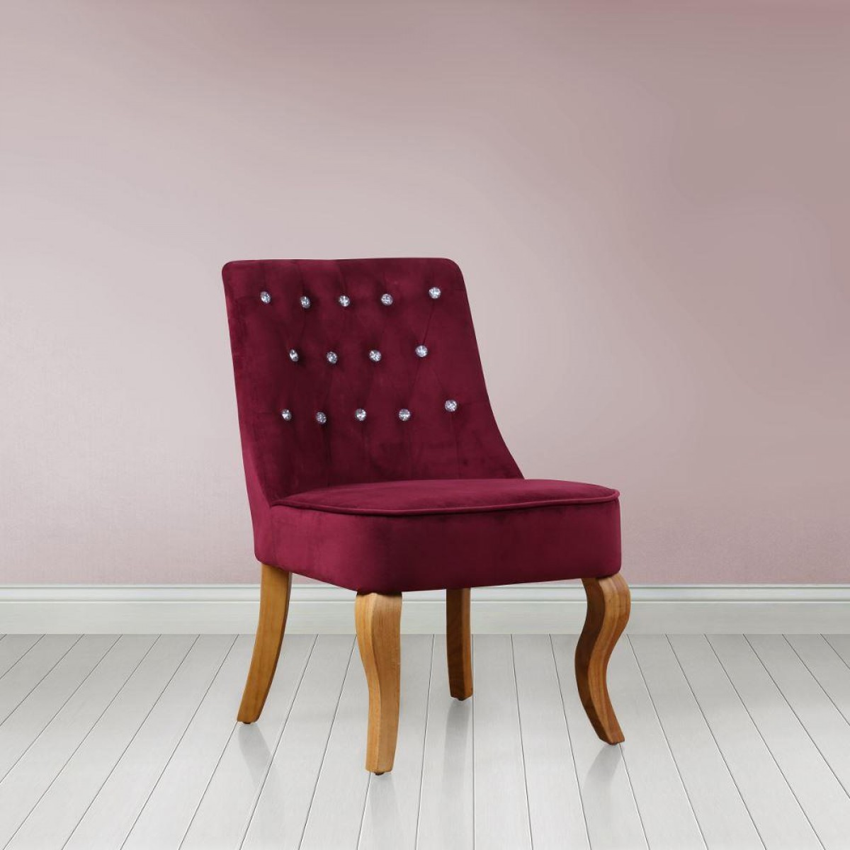 Darcey Plum Fabric Chair