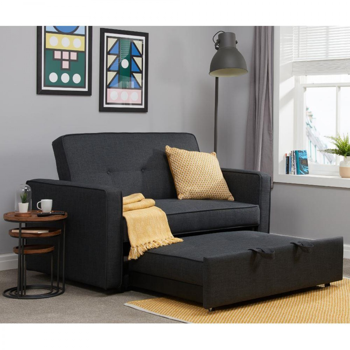 Otto Grey Fabric Sofa Bed