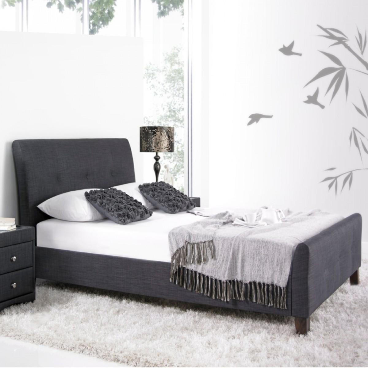 Amble Slate Fabric Bed