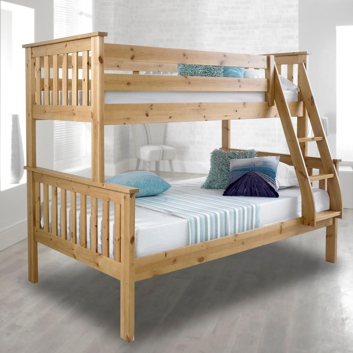 3ft Single Triple sleeper Bunk Bed EURO Three sleeper Bunkbed VERY STRONG BUNK