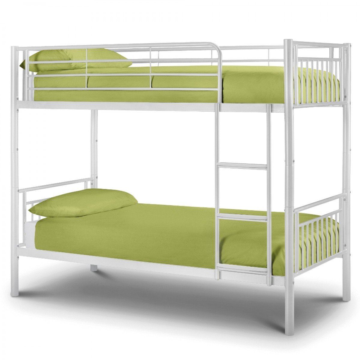 Atlas White Gloss Metal Bunk Bed