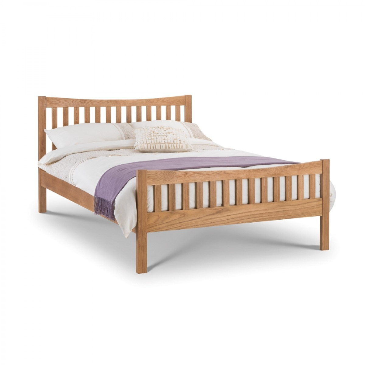 Bergamo Solid Oak Wooden Bed