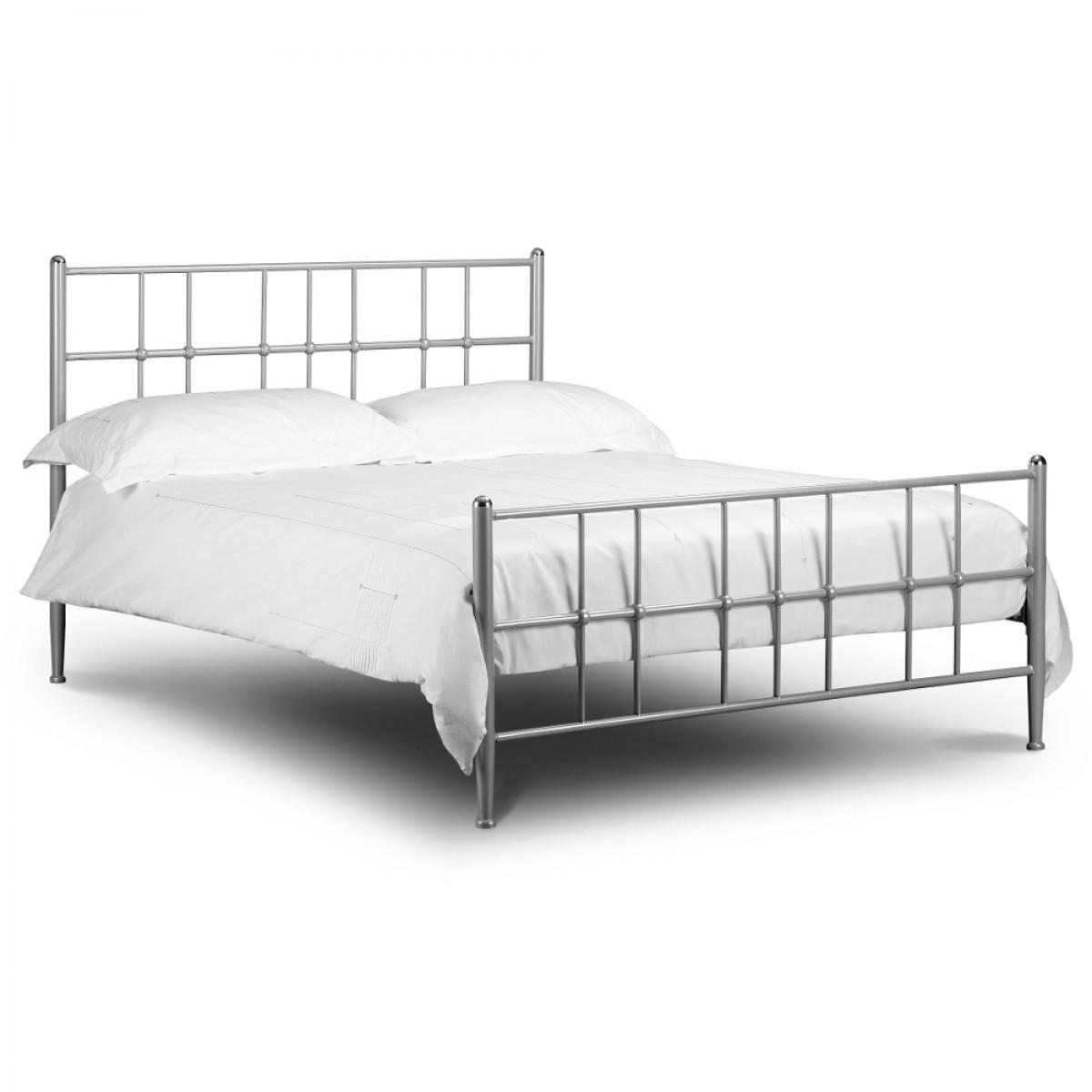 Braemar Silver Finish Metal Bed