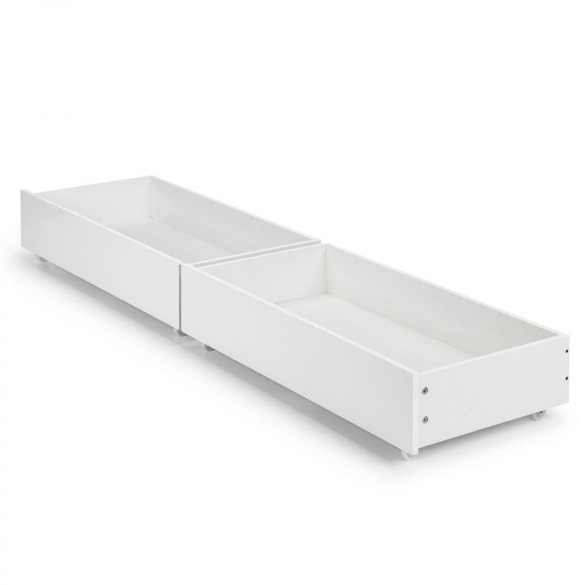 Manhattan Gloss White Wooden Underbed Storage Drawers