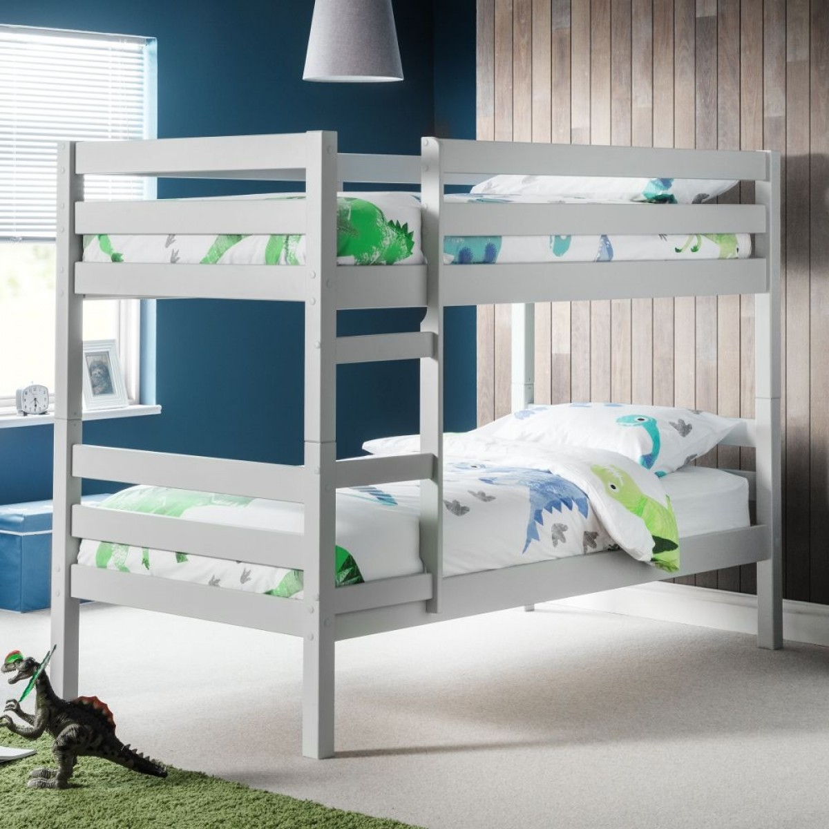Camden Dove Grey Wooden Bunk Bed