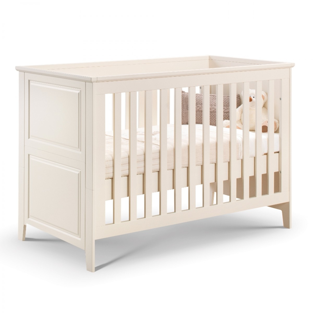 Cameo Stone White Wooden Cotbed