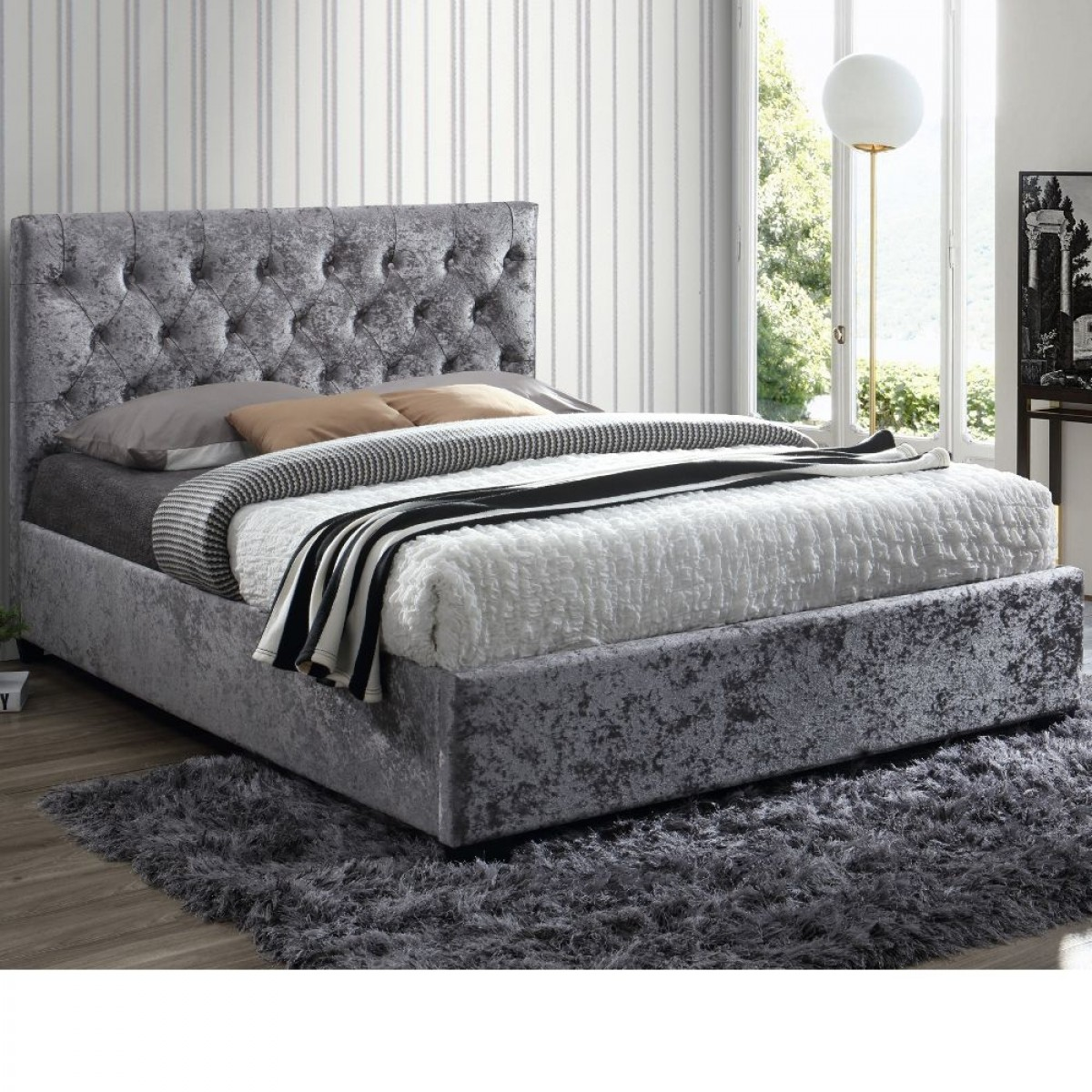 Cologne Steel Fabric Bed