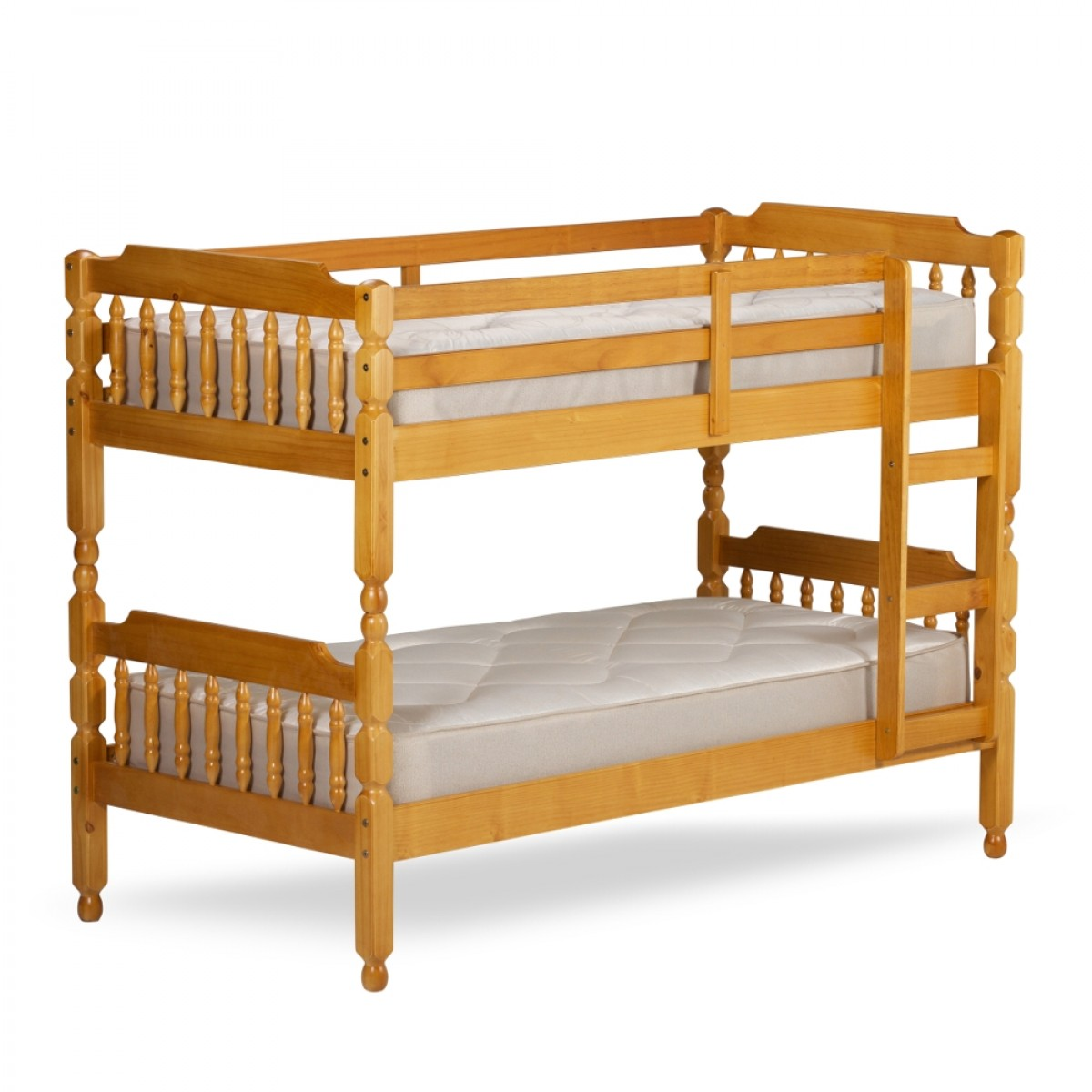 Colonial Honey Pine Wooden Bunk Bed