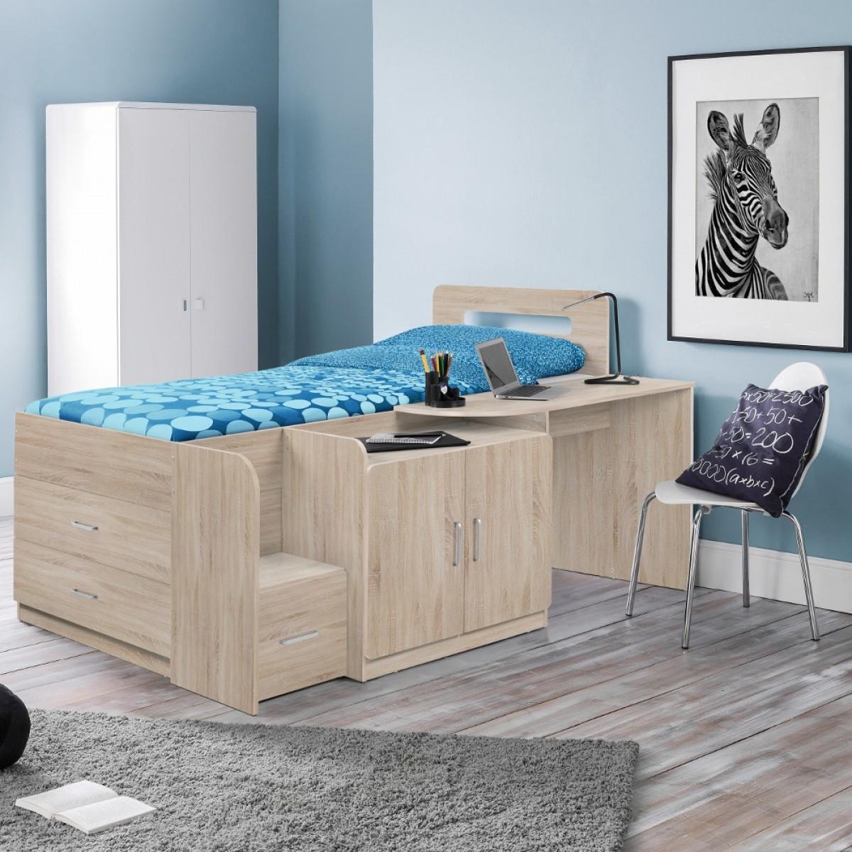 Cookie Oak Wooden Cabin Bed