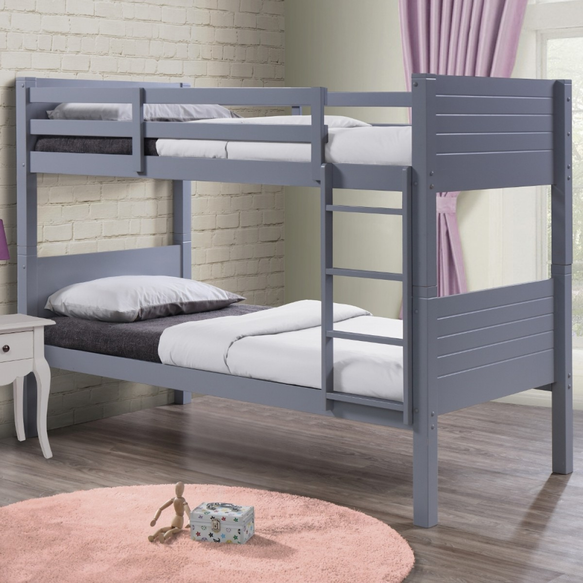Dakota Grey Wooden Bunk Bed