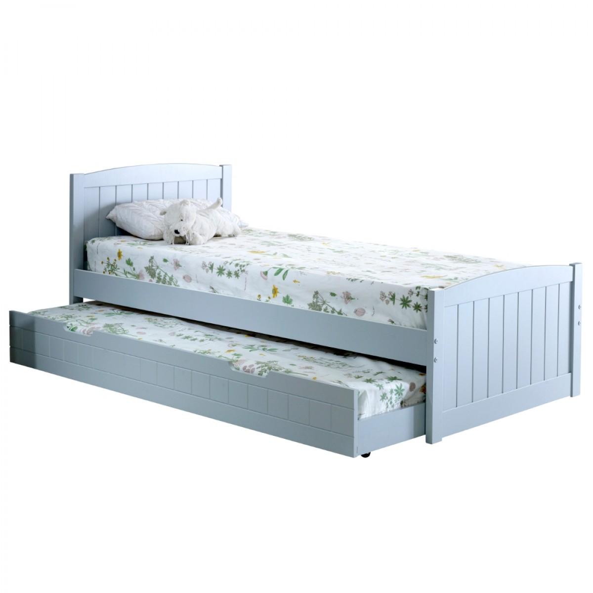 Denver Grey Wooden Guest Bed