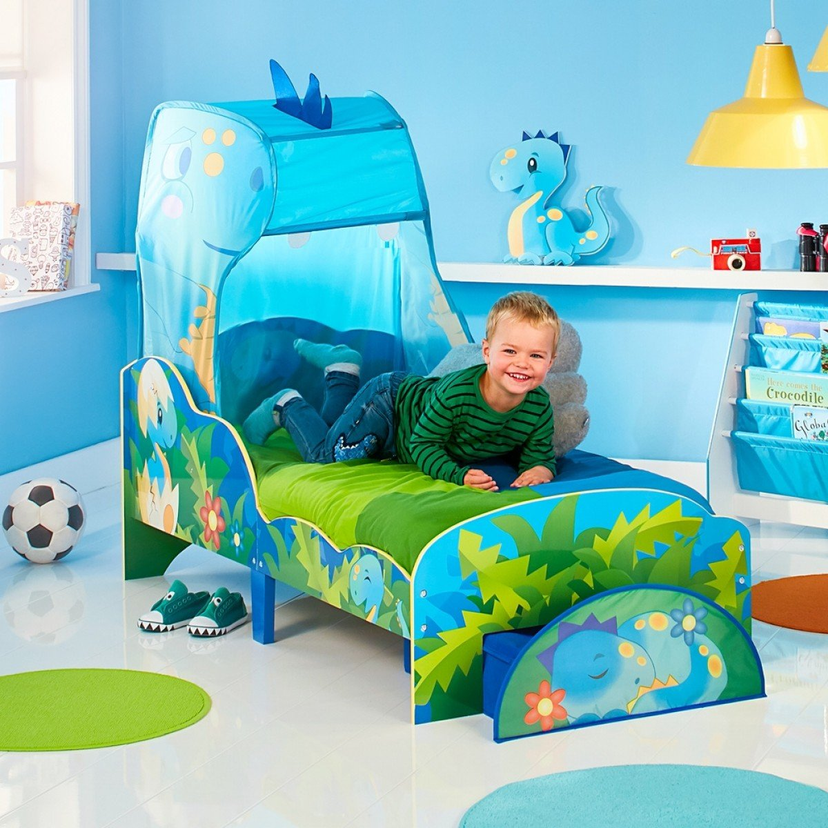 Dinosaurs Canopy Toddler Bed