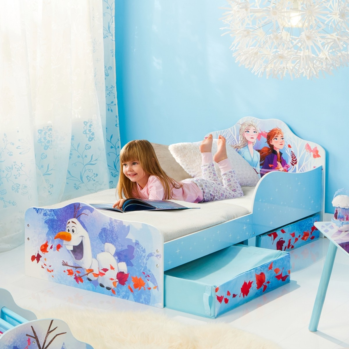 Frozen 2 Elsa and Anna Toddler 2 Drawer Storage Bed