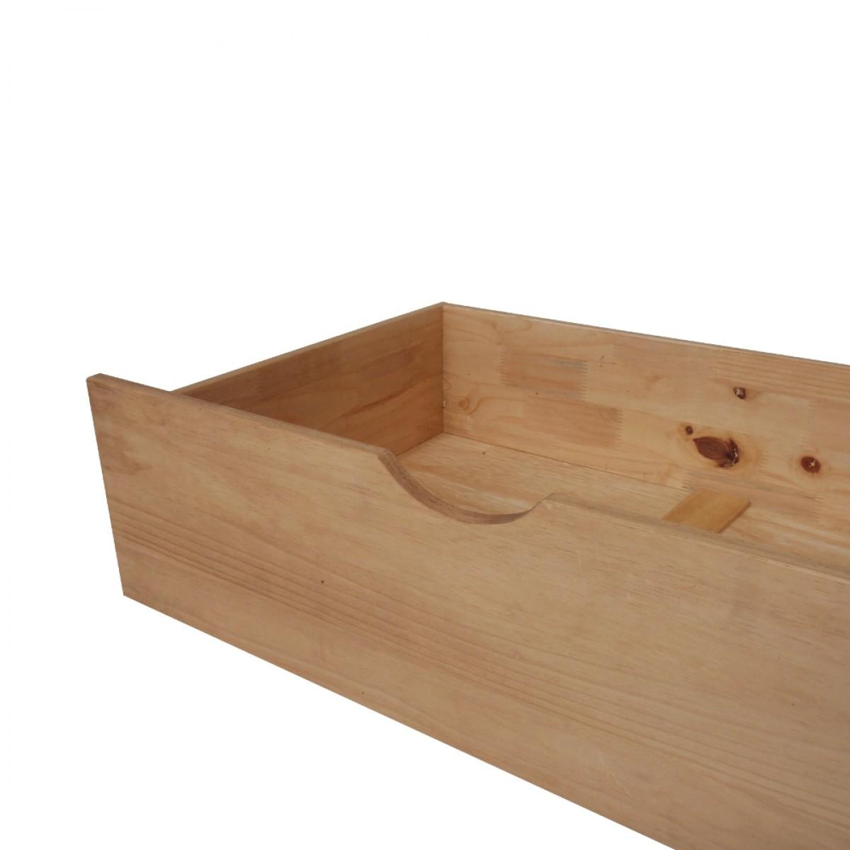 Waxed Pine Underbed Storage Drawers - Pair