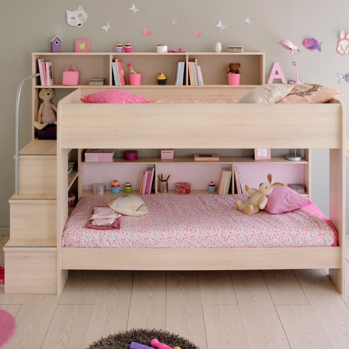 Bibop Acacia Wooden Bunk Bed