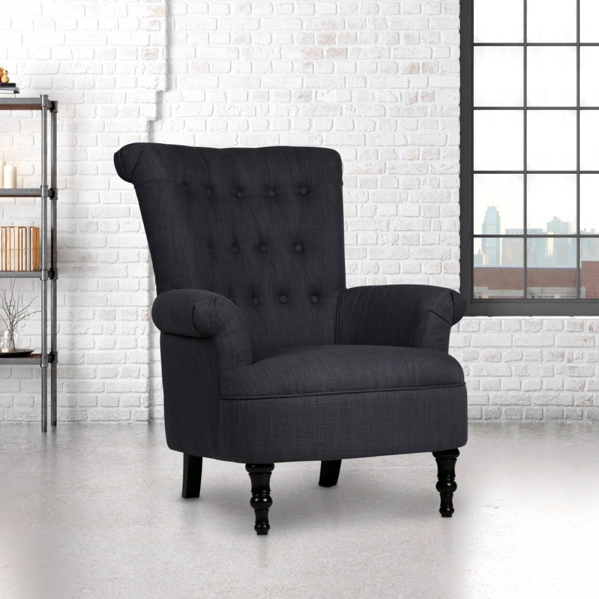 Edinburgh Steel Fabric Armchair
