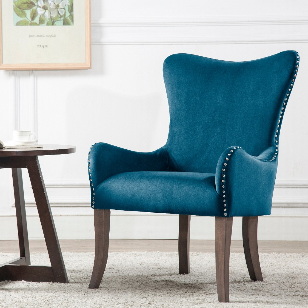 Ellis Blue Fabric Armchair