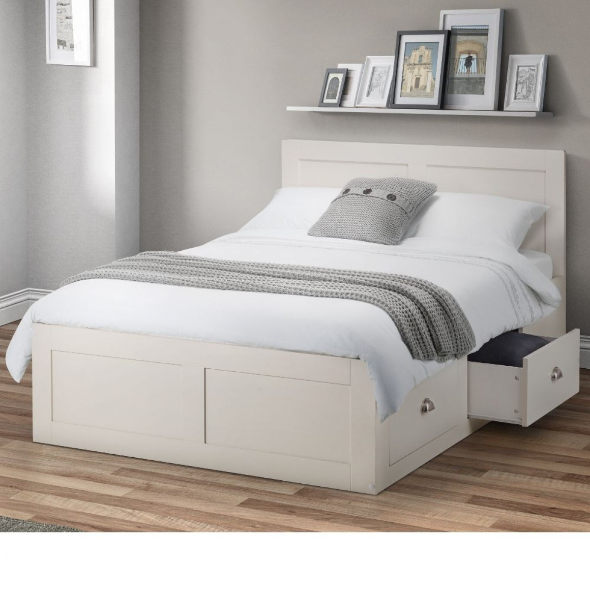 Emily Ivory Wooden 4 Drawer Storage Bed