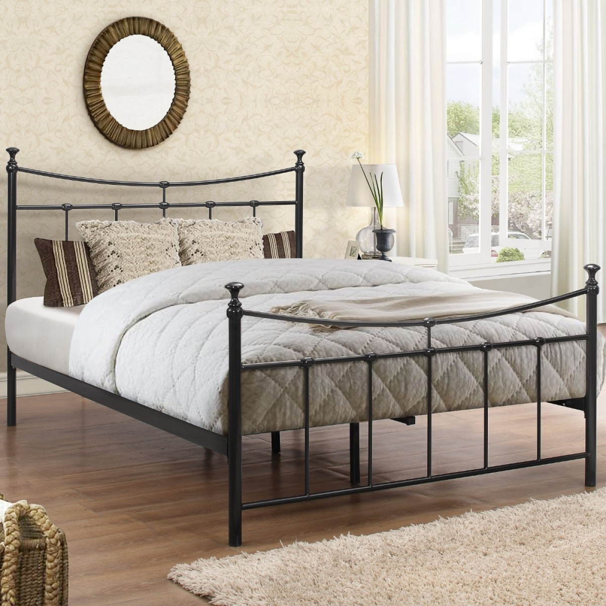 Emily Black Metal Bed