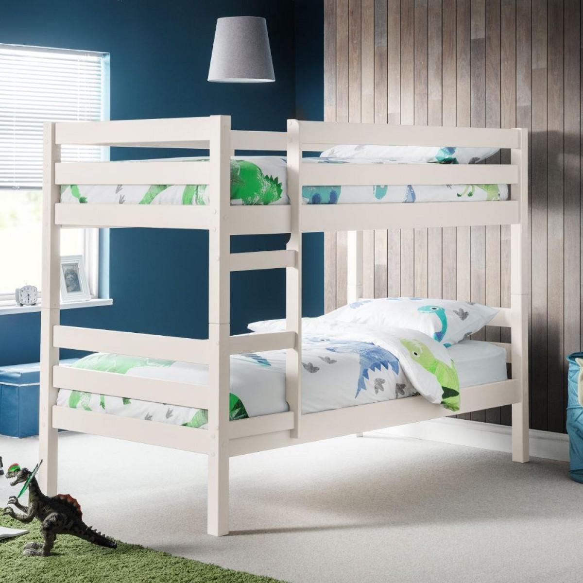 Camden White Wooden Bunk Bed