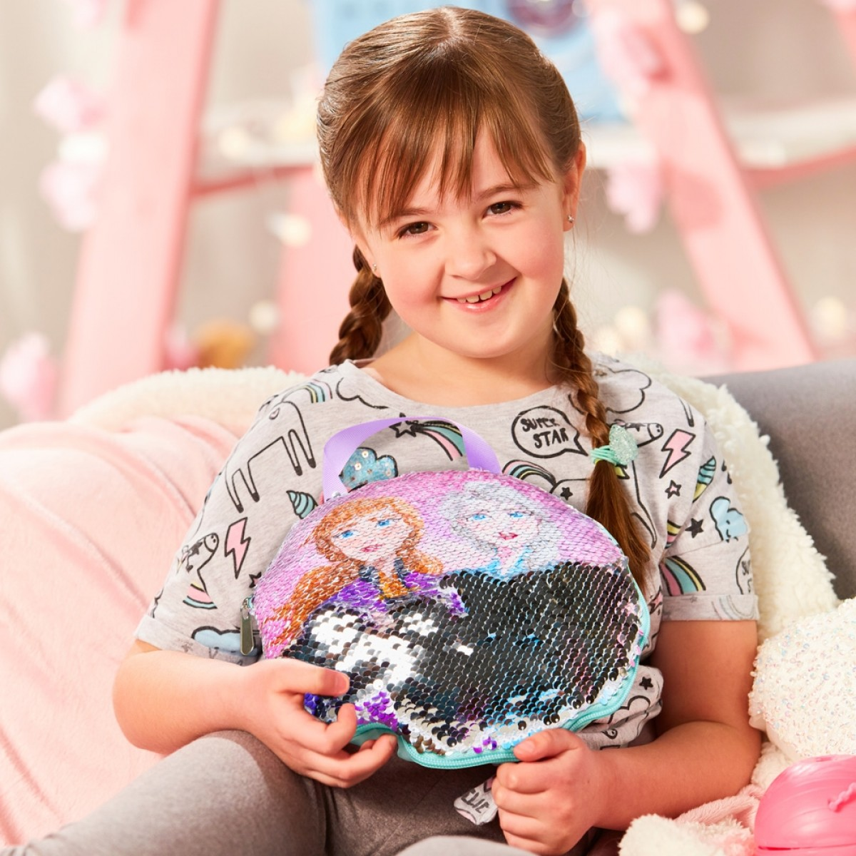 Frozen 2 Sequin Cushion