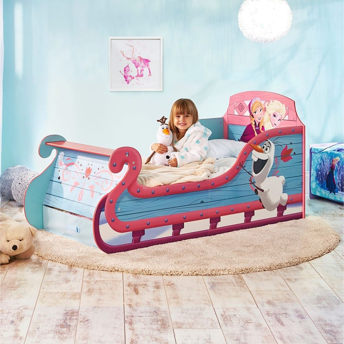 Frozen 2 Toddler Sleigh Bed
