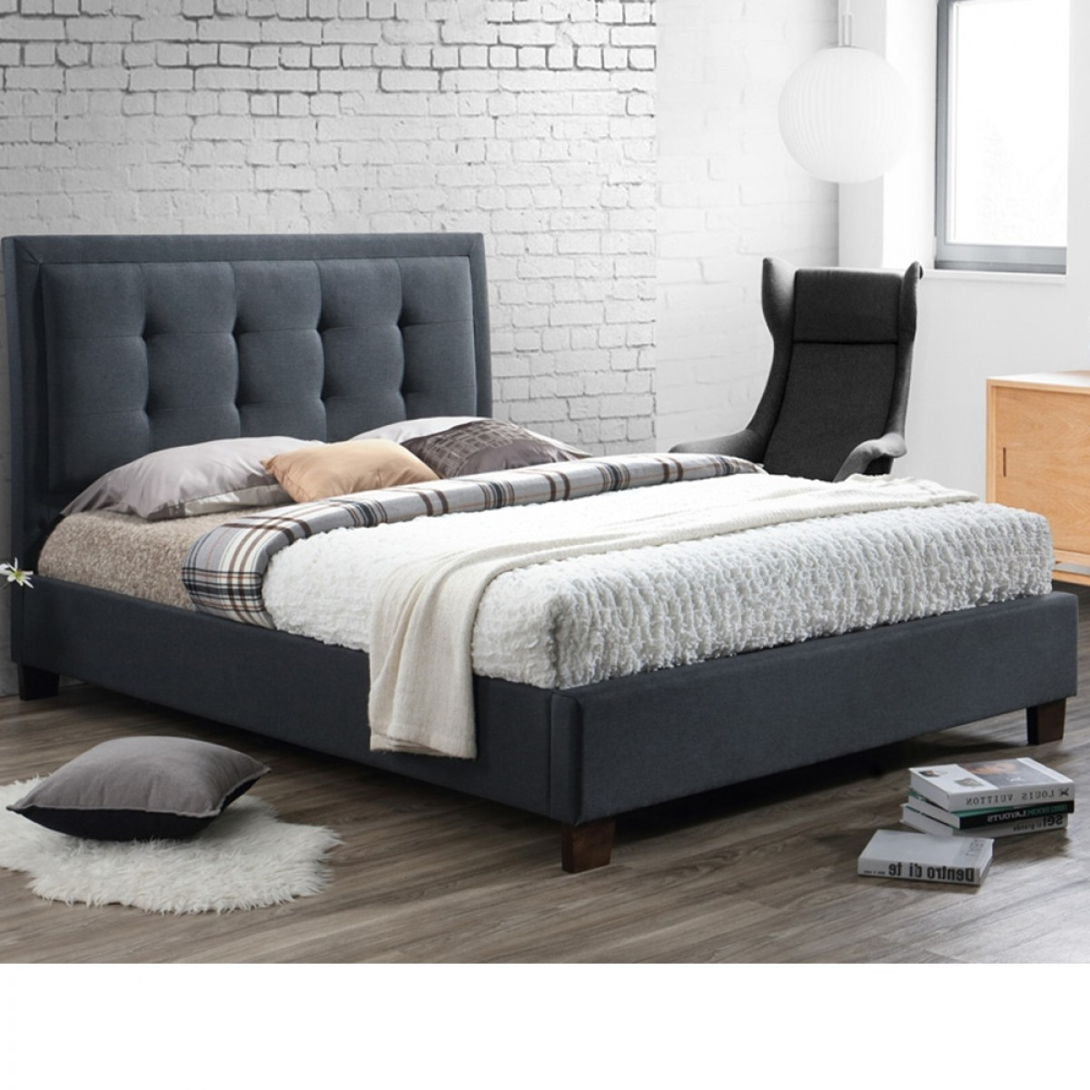 Hamilton Charcoal Fabric Bed