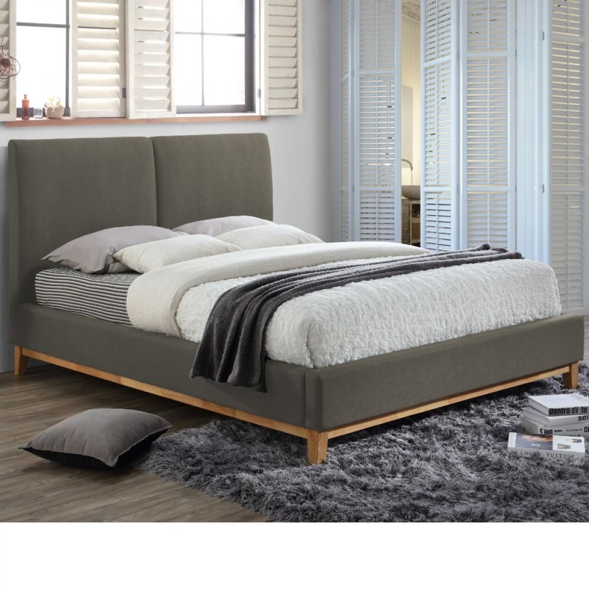 Helsinki Grey Fabric Bed