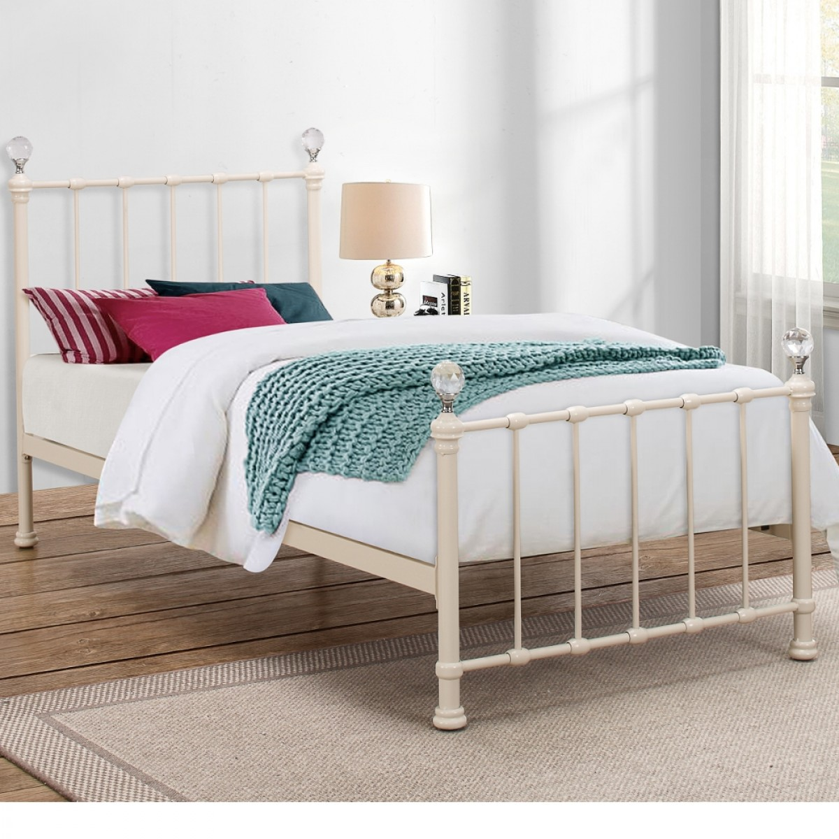 Jessica Cream Metal Bed