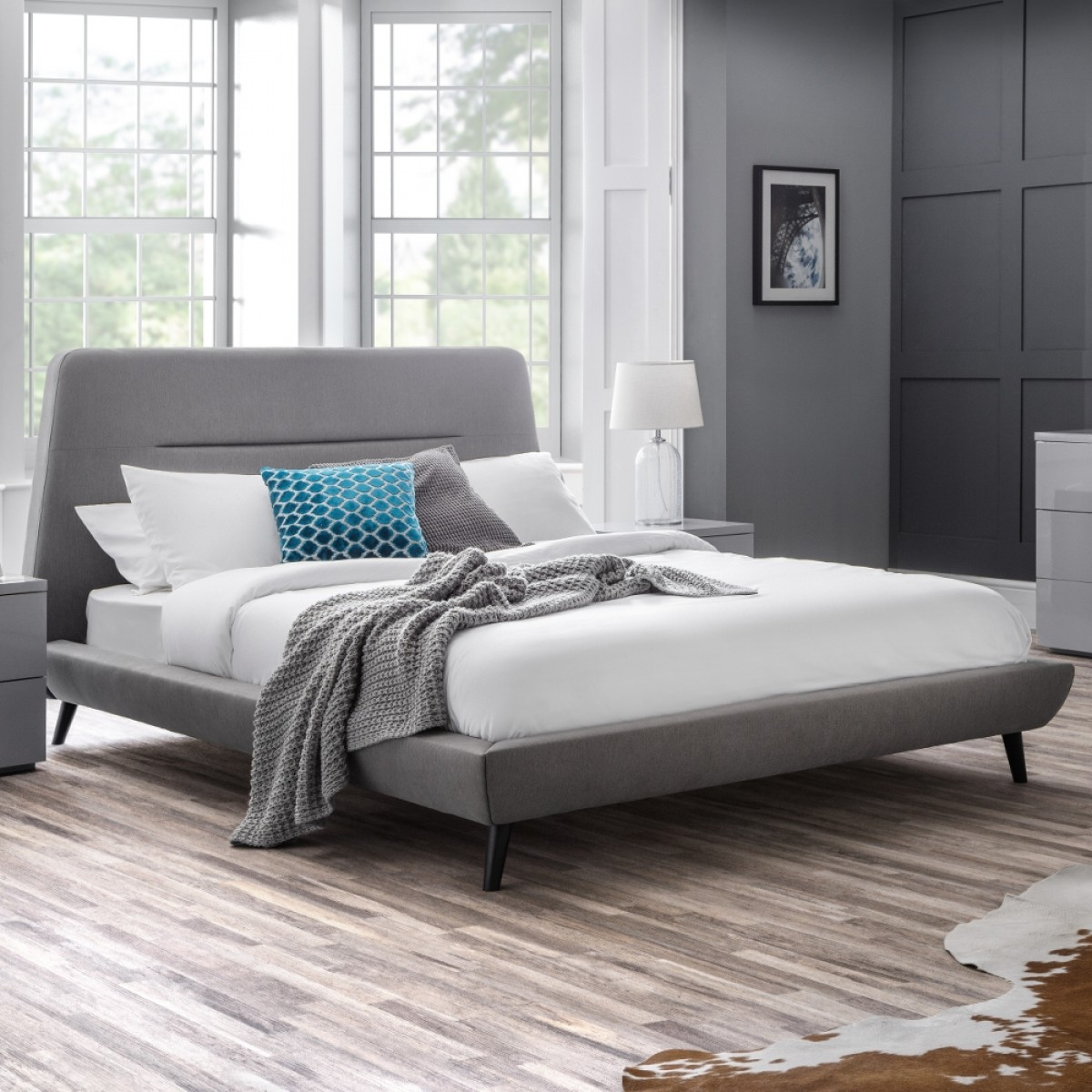 Kyoto Grey Fabric Bed