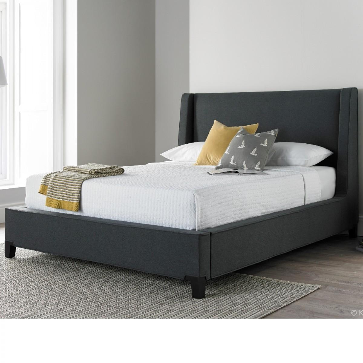 Lisa Berwick Grey Fabric Bed