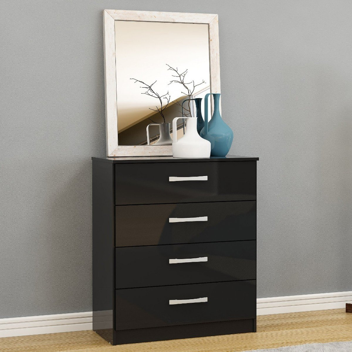 Lynx 4 Drawer Chest Black