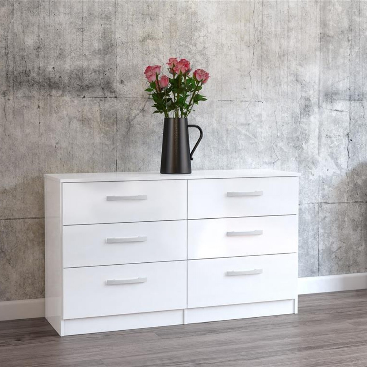 Lynx 6 Drawer Chest White