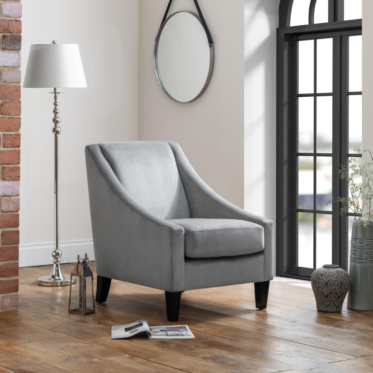 Maison Grey Fabric Armchair