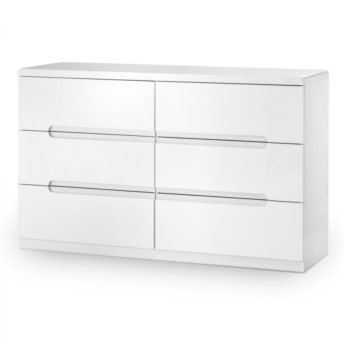 Manhattan Gloss White 6 Drawer Wide Chest