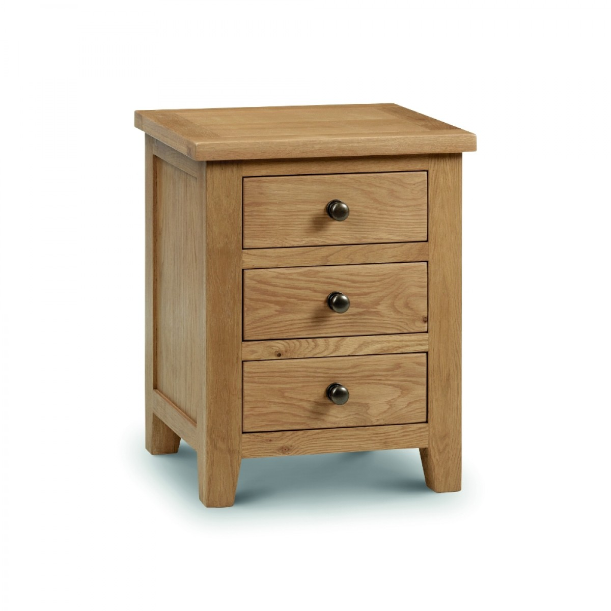 Marlborough Oak 3 Drawer Bedside Table