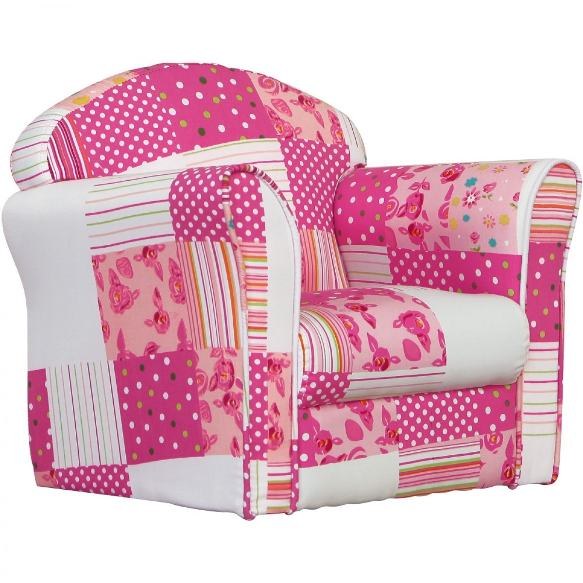 Children's Pink Patchwork Mini Armchair