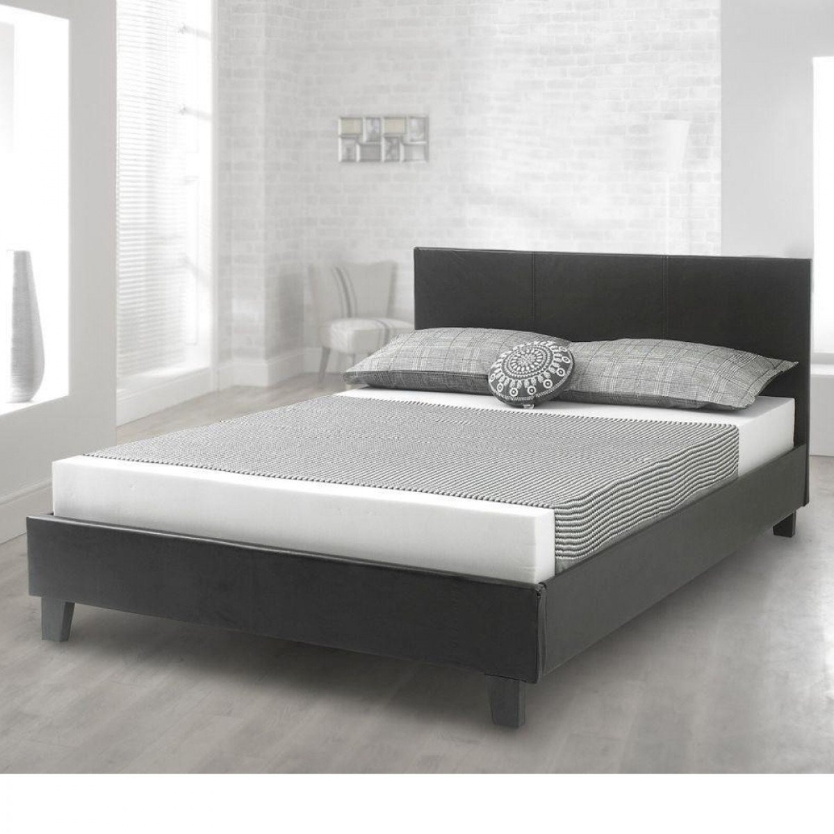Prado Brown Leather Bed