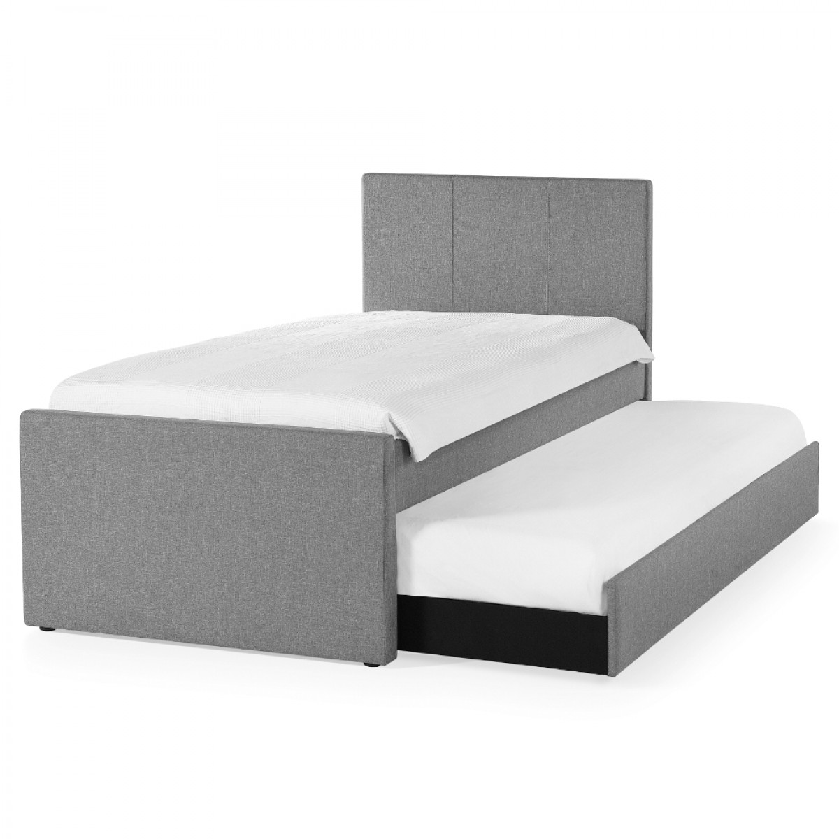 Rialto Light Grey Fabric Guest Bed with Trundle