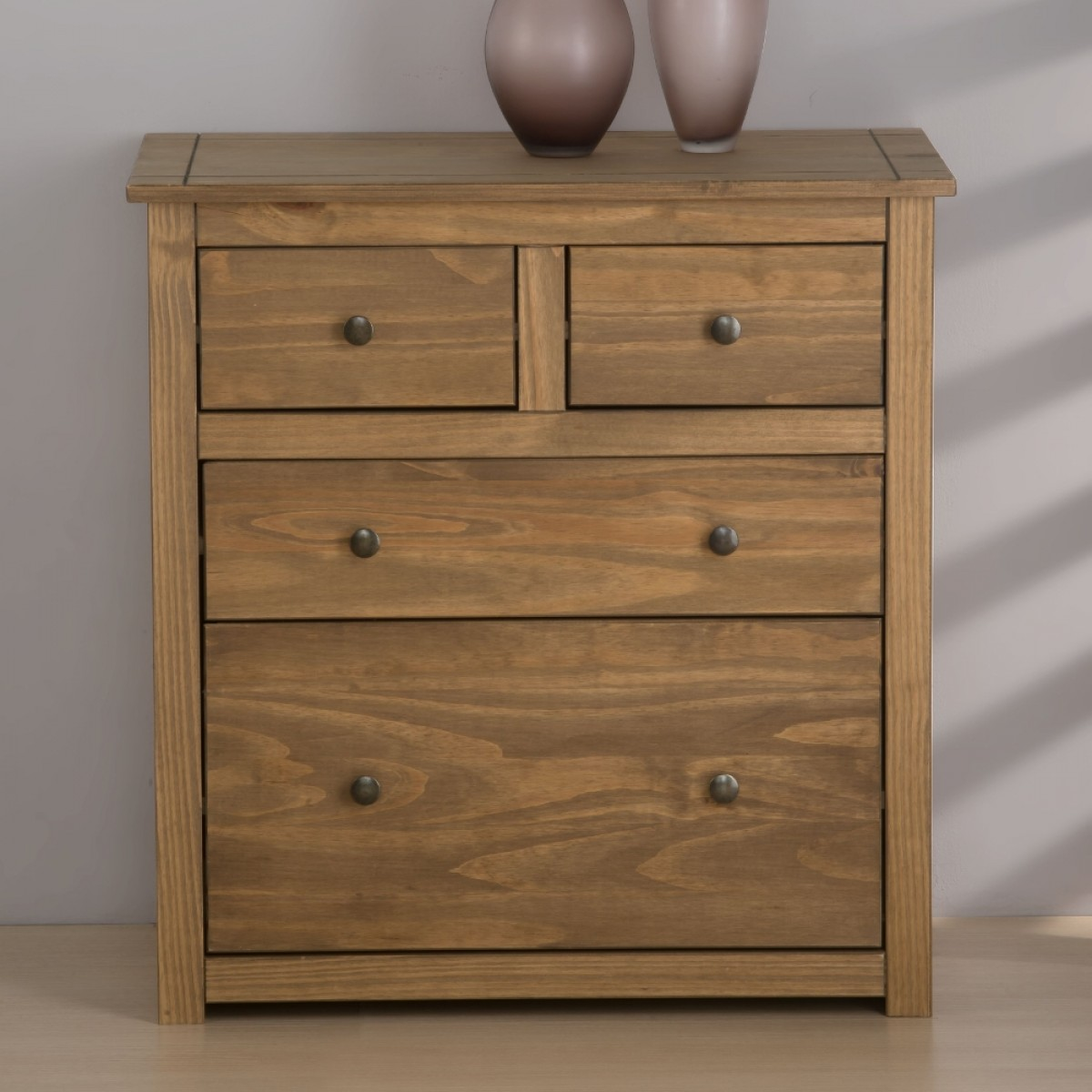 Santiago Pine 2 + 2 Drawer Chest