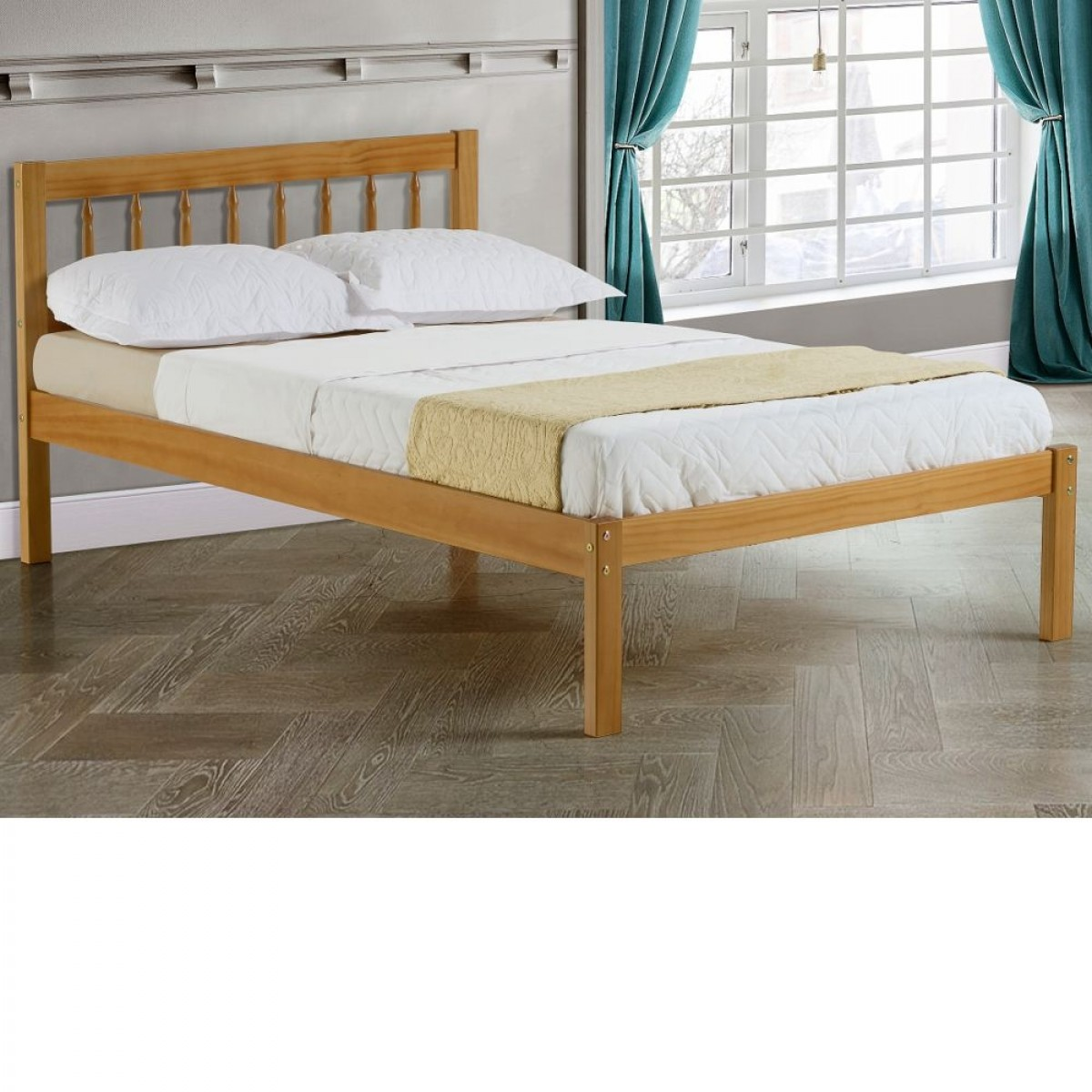 Santos Antique Solid Pine Wooden Bed