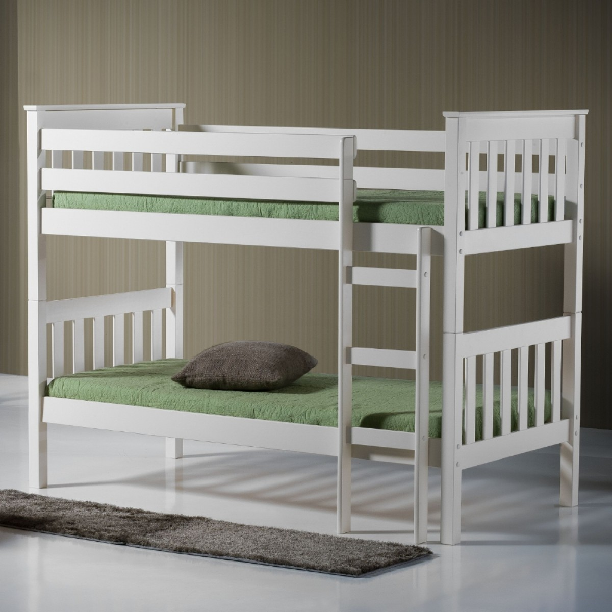 Seattle Ivory Finish Solid Pine Wooden Bunk Bed