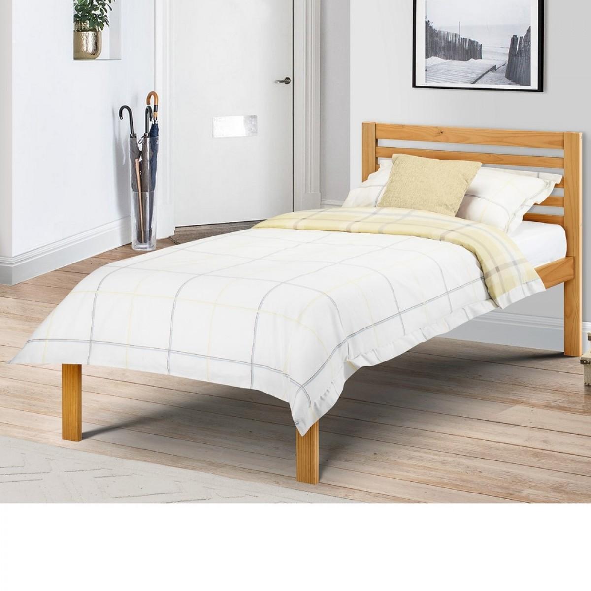 Slocum Antique Solid Pine Wooden Bed