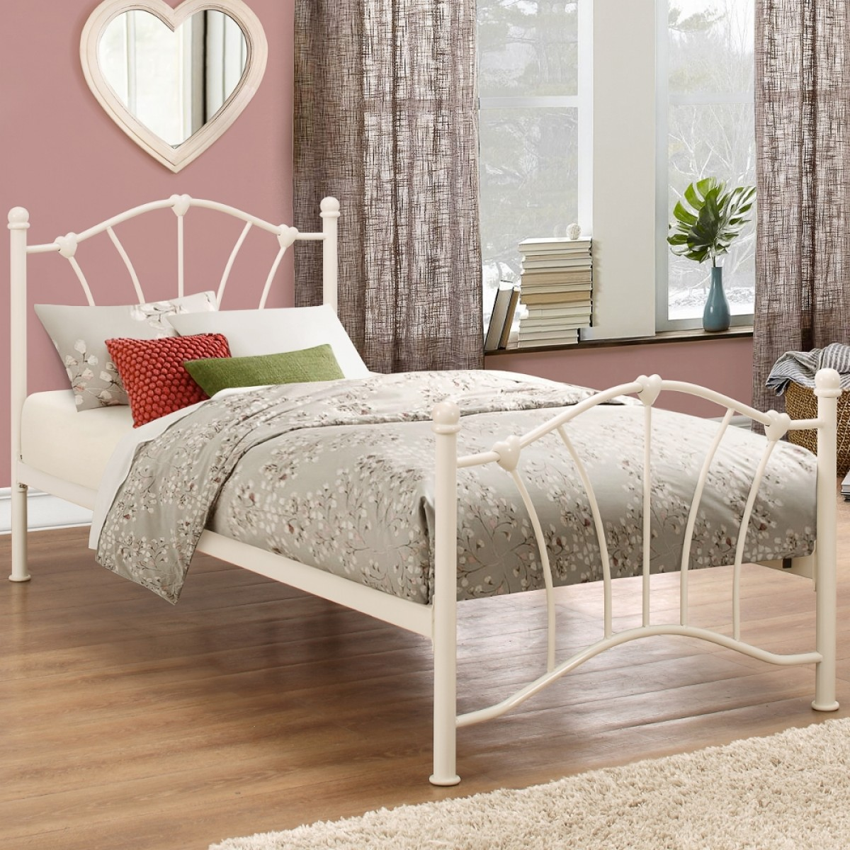 Sophia Cream Metal Bed