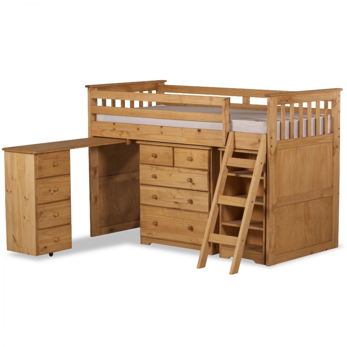 Ultimate Mid-Sleeper Pine Wooden Storage Bed
