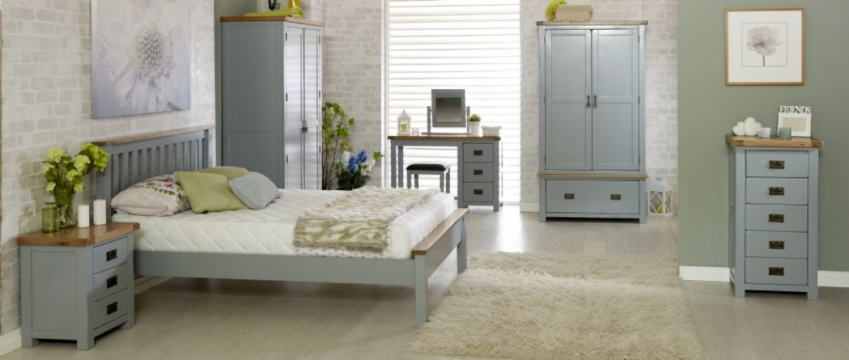 New Hampshire Grey and Oak Bedroom Furniture Collections