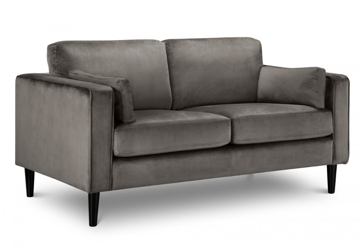 Hayward Grey Velvet 2 Seater Fabric Sofa